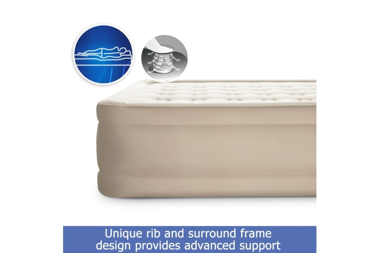 Bestway Air Bed Camp Bed Inflatable Mattress W/Inflatable Pump- Queen Size