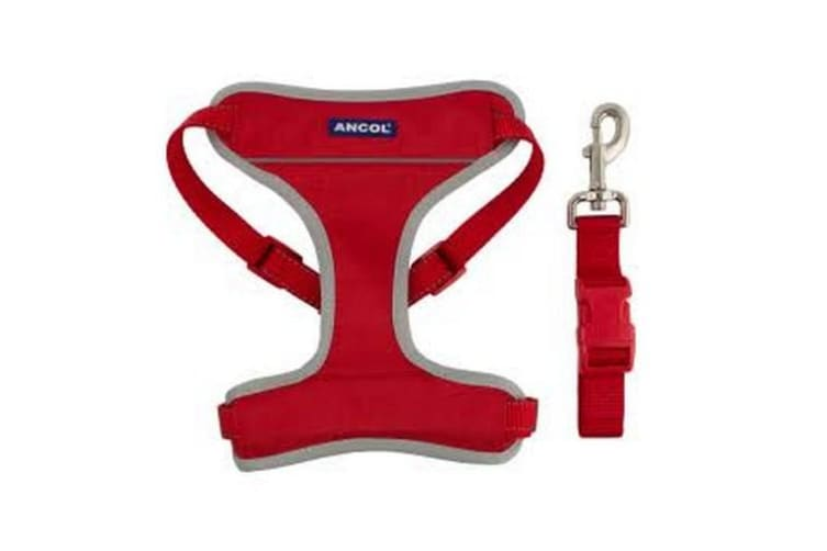 Ancol Travel & Exercise Harness (Red) (42-66cm)