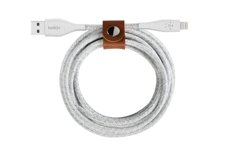 Belkin DuraTek Plus Lightning to USB-A Cable with Strap - White (F8J236BT04-WHT)