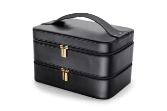Black Portable Makeup Case Cosmetics