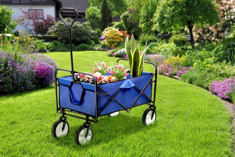Certa Folding Garden Wagon Trolley (Blue)