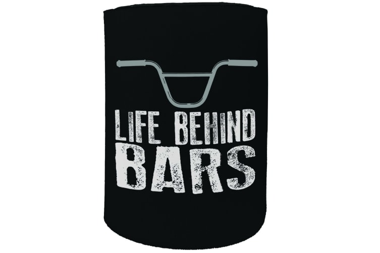 123t Stubby Holder - RLTW life behind bars bmx CYCLING - Funny Novelty