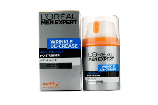 L'Oreal Men Expert Wrinkle De-Crease Anti-Expression Wrinkles Moisturising Cream (50ml/1.6oz)