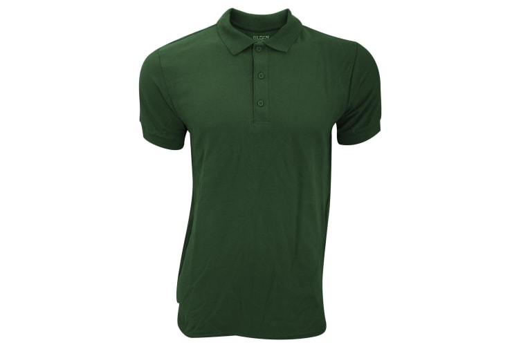 Gildan Mens Premium Cotton Sport Double Pique Polo Shirt (Forest Green) (XL)