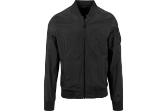 Build Your Brand Unisex Bomber Jacket (Black) (2XL)