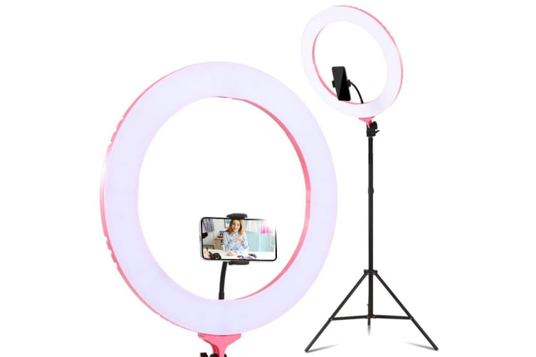 """19"""" LED Ring Light 6500K 5800LM Dimmable Stand MakeUp Studio Video"""