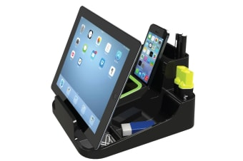 Esselte Smart Caddy Black Desk Stationary Organiser/Stand for Phone/Tablet/Pen