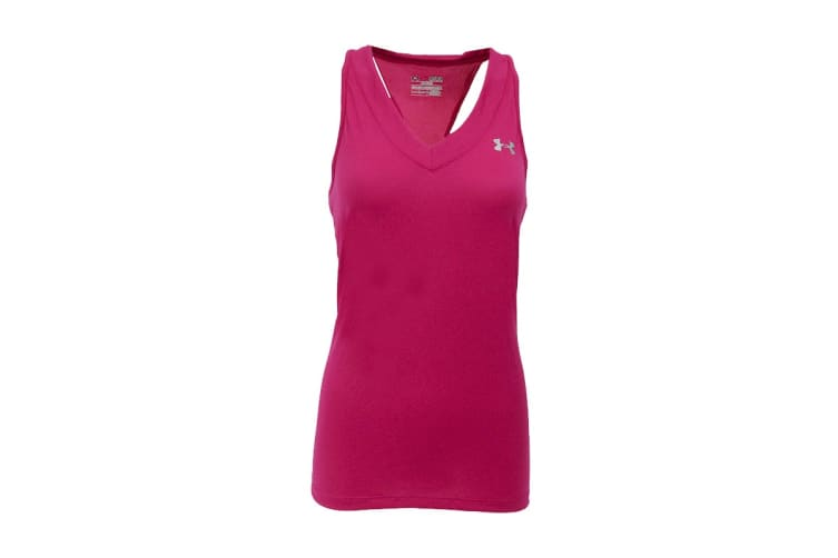 Under Armour Women's UA Tech Sleeveless Tank Top (Tropical Coral, Size S)