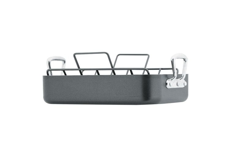 RACO Roast N Rack Roaster Non Stick Kitchen Roasting Baking Pan Bakeware w  Rack