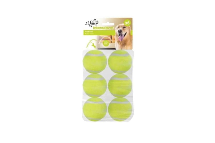 6 Pack Dog Fetch Balls Heavy Fetch N Treat All For Paws AFP Replacement Ball