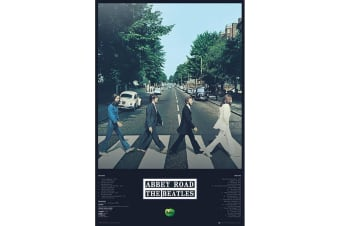 The Beatles Abbey Road Poster (Multicoloured)
