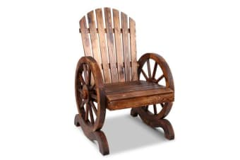 Gardeon Wagon Wheels Single Rocking Chair (Brown)