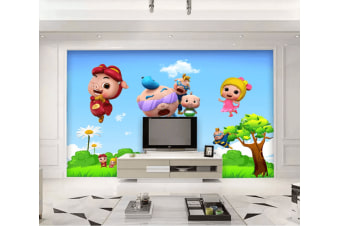 3D Pigman Brave Giant Island 1610 Anime Wall Murals Woven paper (need glue), XXXXL 520cm x 290cm (WxH)(205''x114'')