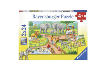 Ravensburger A Day at the Zoo Puzzle - 2 x 24 Piece