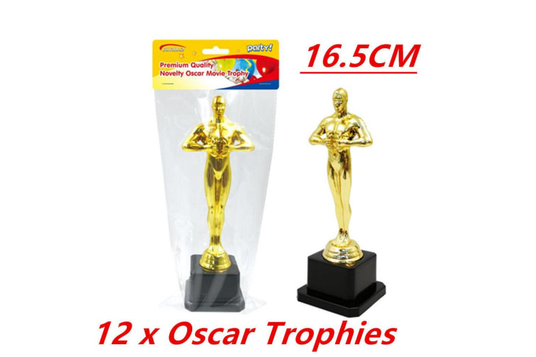 12 x Hollywood Award Gold Oscar Movie Trophy Inspired Ceremonies Party Favor VIP