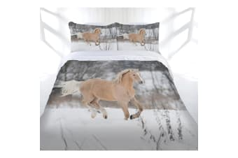 Just Home Winter Gallop Quilt Cover Set Queen