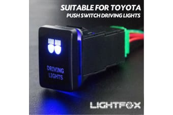 LIGHTFOX Push Switch Driving Lights Car Suitable for TOYOTA Prado Hilux Landcruiser OEM