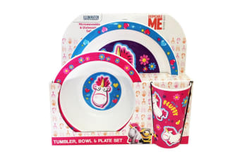 Despicable Me Fluffy Kids/Childrens Tableware Set (Multicoloured) (One Size)