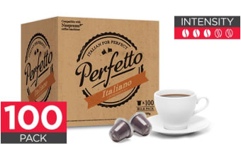 100 Pack Perfetto Nespresso Compatible Coffee Pods (Italiano)