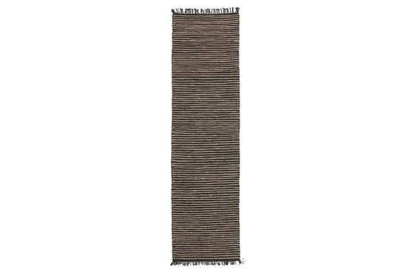 Bondi Leather and Jute Rug Natural Nude Pink 400x80cm
