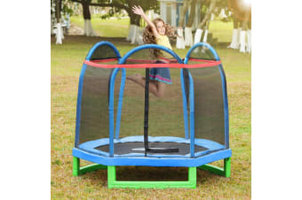 Outdoor/Indoor Kids Trampoline with Enclosure Net