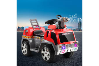 Kids Ride On Car Motorcycle Toys Cars Electric Fire Engine Truck Music