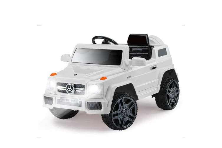 ROVO KIDS Ride-On Car MERCEDES G65 Inspired Electric Toy Battery White