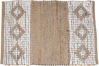 Bihu Cotton Jute Hand Knit Rug Bobble