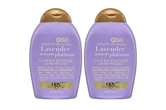 2PK OGX 385mL Hydrate & Colour/Lavender Conditioner Care UVA/UVB Blond Hair