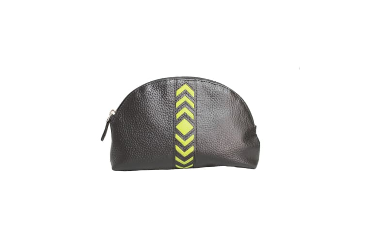 Eastern Counties Leather Womens/Ladies Becky Chevron Detail Make Up Bag (Parrot) (One size)