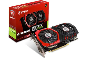 MSI NVIDIA GTX 1050 TI GAMING X 4GB Video Card - GDDR5 DP/HDMI/DVI 1290/1493MHz