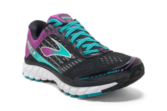 Brooks Women's Ghost 9 (Black/Sparkling Grape/Ceramic)