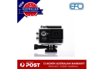 N9Se Portable 30M Waterproof Wi-Fi Loop Recording 1080P Action Camera Black