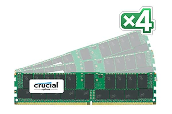 Crucial 128GB Kit (32GBx4) DDR4  2400 MT/s (PC4-19200) CL17 DR x4 ECC Registered DIMM 288pin