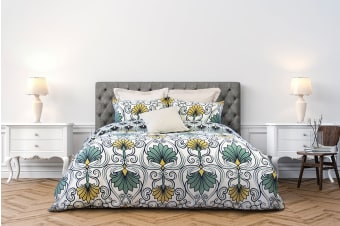 Ardor Morris Quilt Cover Set (Queen)