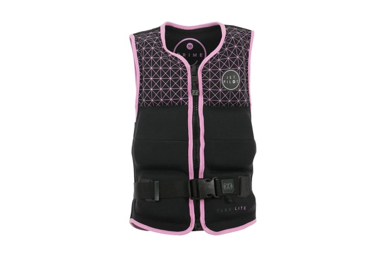 JetPilot Prime Seg F/E Youth Girls Neo Impact Vest - Black/Pink - 8