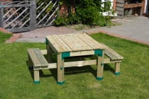 TP Forest Deluxe Picnic Table Sandpit with Cover