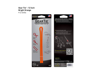 "Nite Ize Gear Tie 12""- 2 Pack - Bright Orange"