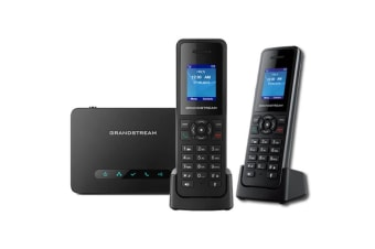 Grandstream DECT VoIP Basestation & Handset Bundle of 1x DP750  & 2xDP720