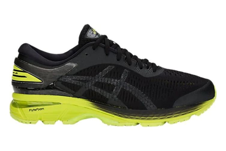 ASICS Men's Gel-Kayano 25 2E Running Shoe (Neon Lime/Black, Size 11)