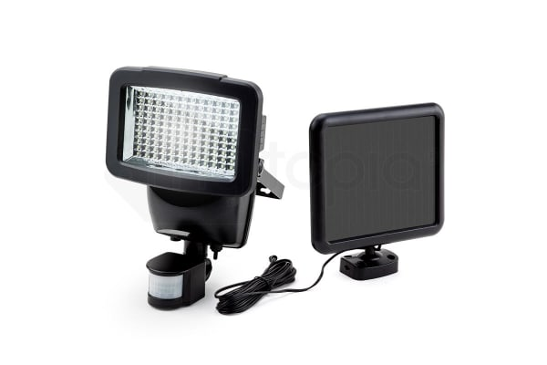 Black 120 smd led solar powered security lights l201 kogan black 120 smd led solar powered security lights l201 aloadofball Image collections