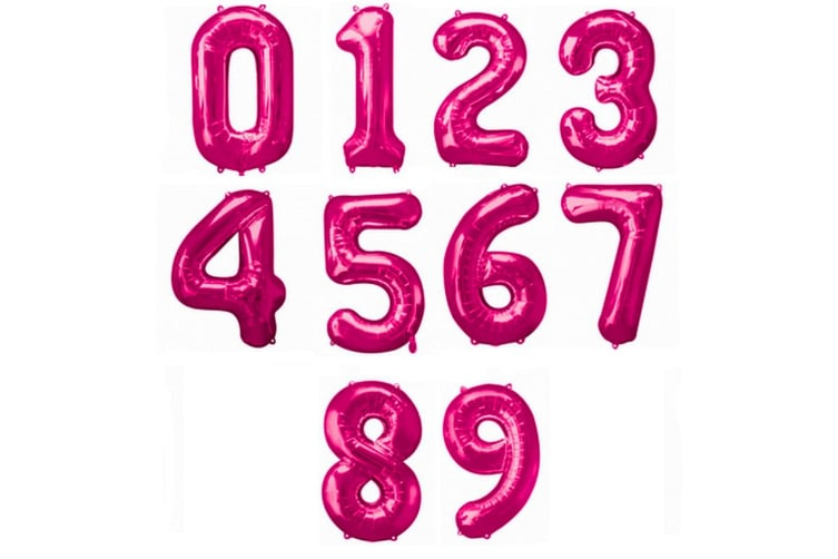 Amscan Supershape Pink Number Balloons (Pink) (2)