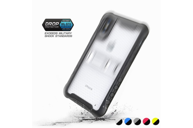 Transparent Honeycomb For iPhone XR Case Armour Phone Cover KickStand