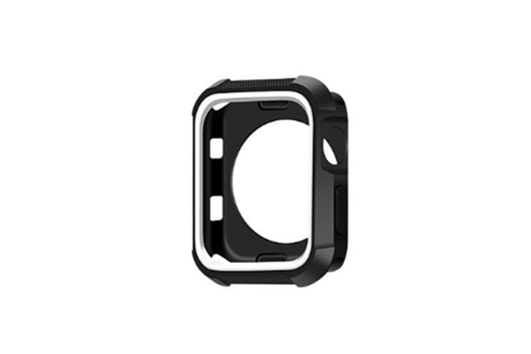 Case Suitbale For Apple Watch Series1/2/3/4,Shatter Resistance Protective Case Black White 40Mm