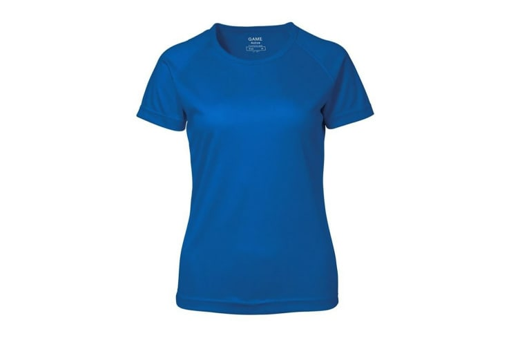 ID Womens/Ladies Game Active Short Sleeve Fitted T-Shirt (Azure) (XL)