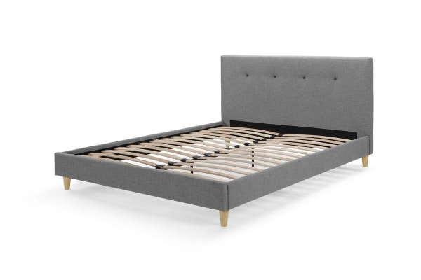 Ovela Bed Frame - Sonata Collection (Light Grey, Queen)