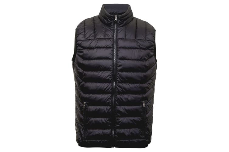 2786 Mens Domain Sleeveless Two Tone Gilet (Black) (XL)