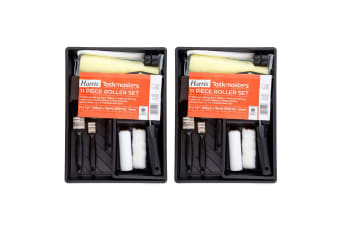 22pc Harris Taskmasters Paint Roller/Brushes Kit /Tray Wall/Ceiling Painting Set
