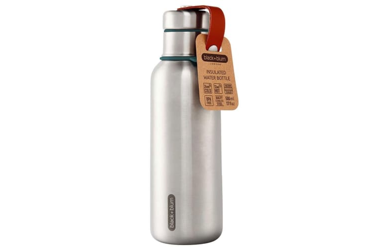 Black + Blum 500ml Vacuum Insulated Stainless Steel Drink Flask Bottle Blue