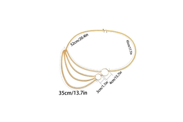 Multilayer Alloy Waist Chain Body Chain For Women Waist Belt Pendant Belly Chain - 6 Silver Silver 80-100Cm